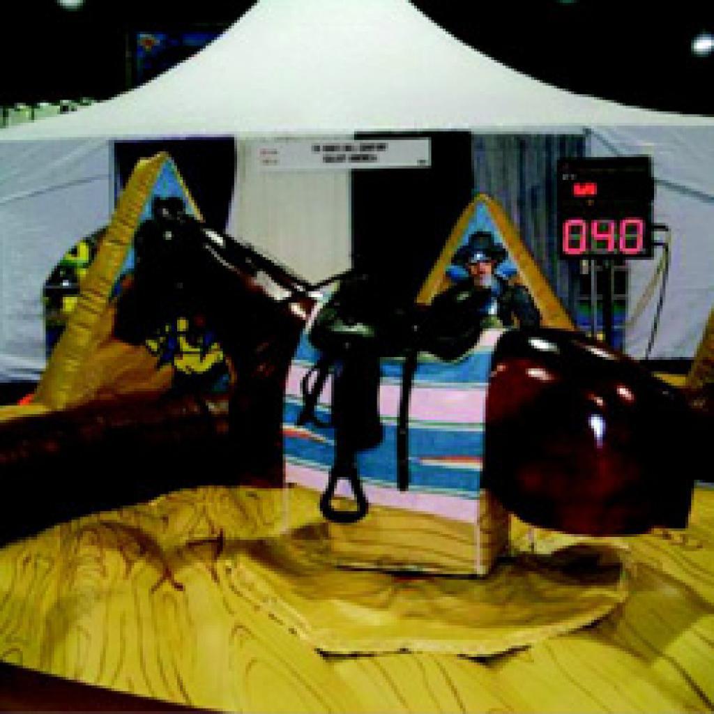 סוס רודיאו אוטומטי + לייזר חדש
