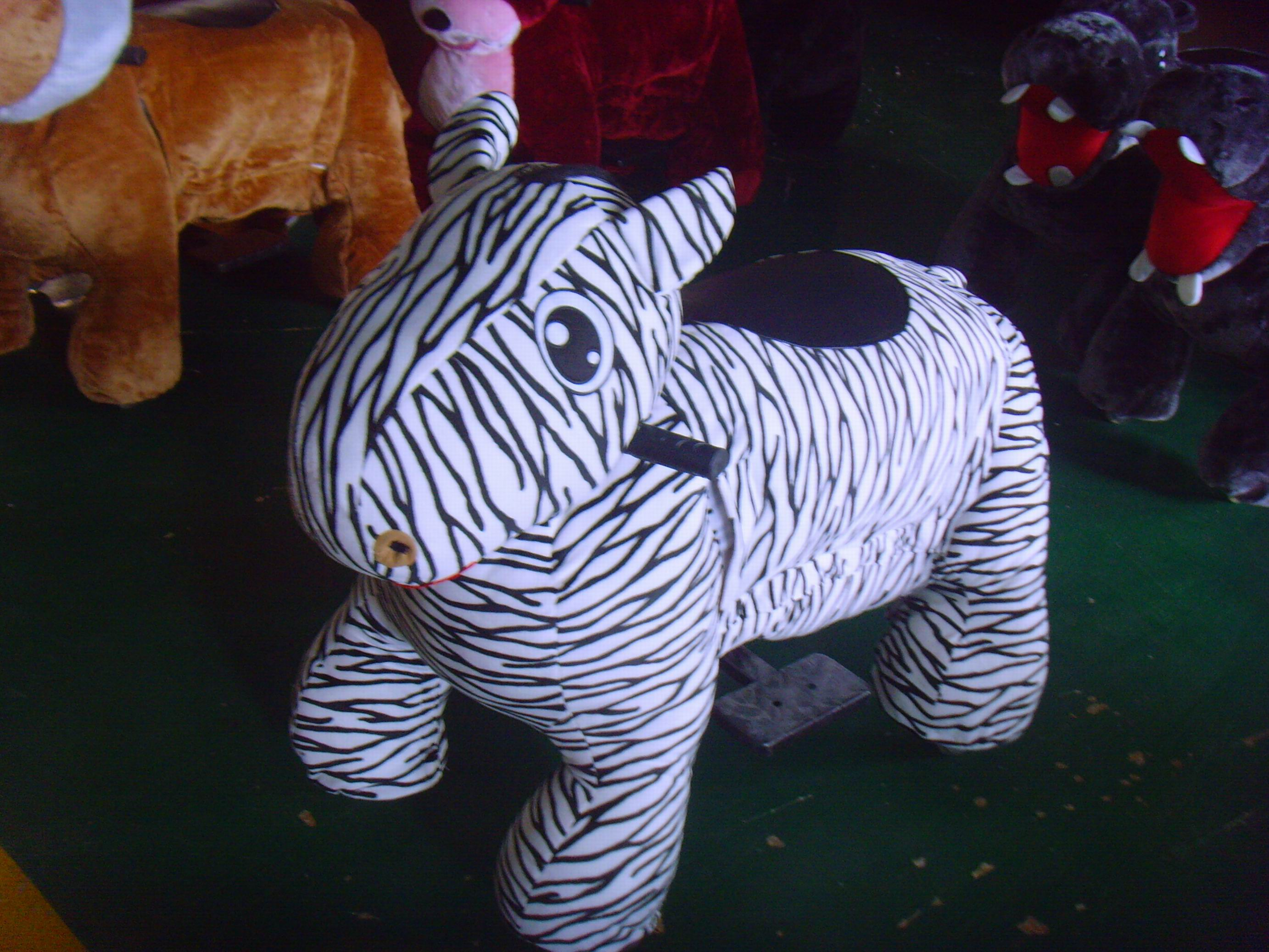 חיות ממונעות לילדים-זברה