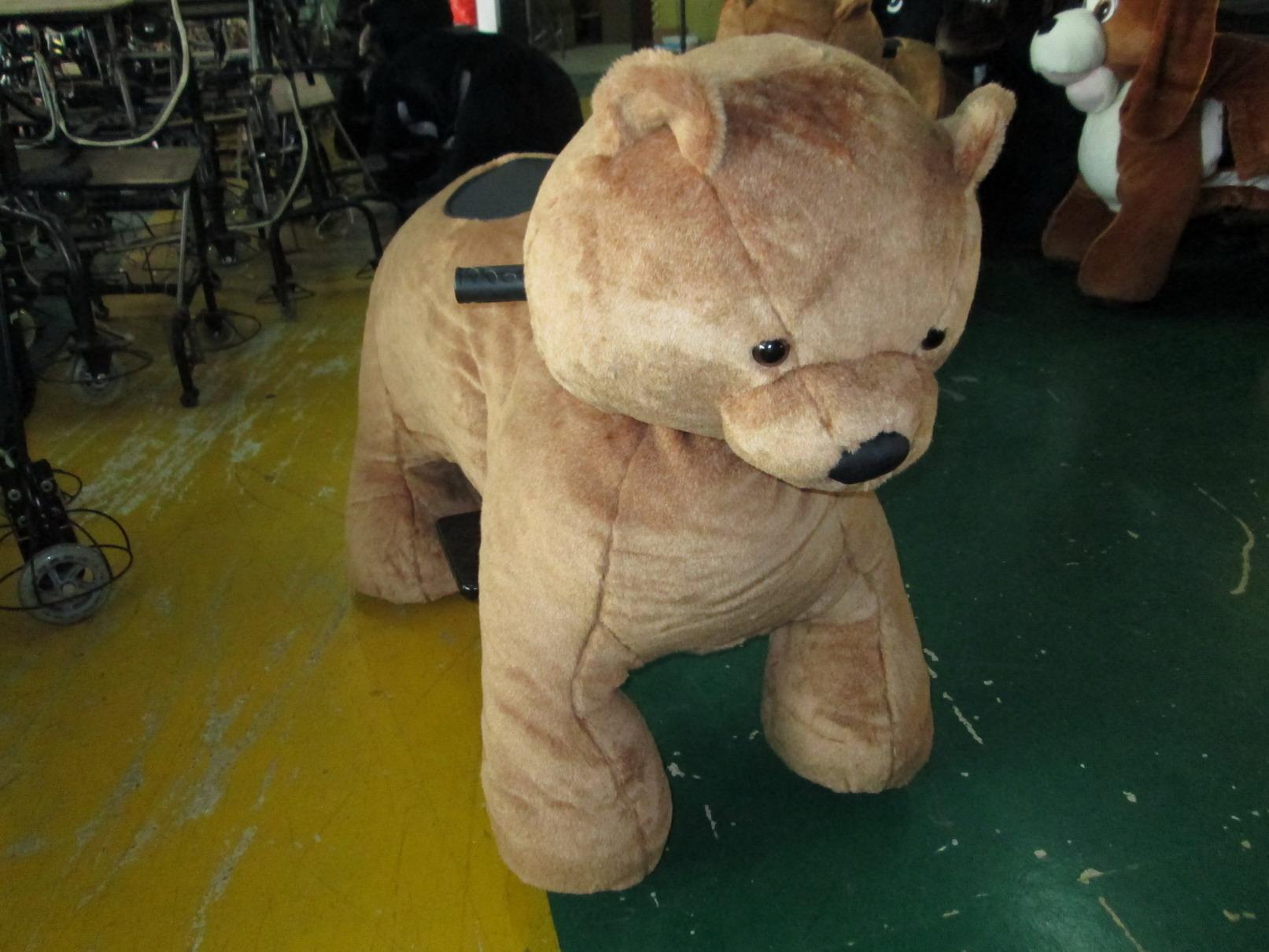 חיות ממונעות לילדים-דוב חום