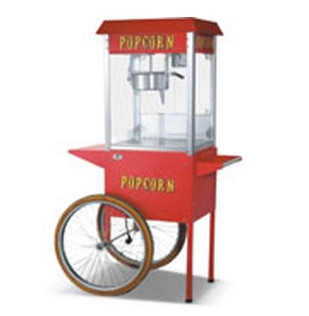 מכונת פופקורן עם עגלה